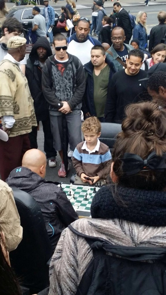 Genius Kids playing chess in Union Square
